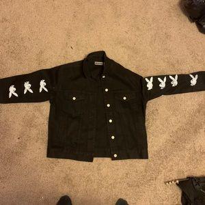 Custom Black Jean Jacket